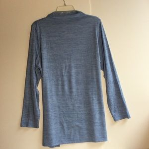 Lands' End light blue mock neck tunic 1X